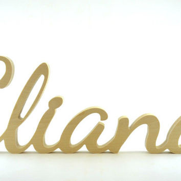Custom Free Standing Wood Name, Script Wood Letters, Home Wood Decor, Kid's Room Decor, Rustic Wedding Decor