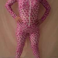 catsuit body suit pink giraffe nicki minaj costume inspiration size m