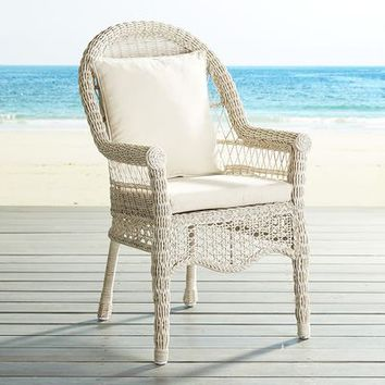 Sunset Pier Parchment Dining Chair