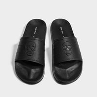 BLACK SKULL-EMBOSSED SLIDES DETAILS