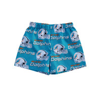 Miami Dolphins Men/Boy Boxers Shorts; Miami Dolphin's NFL Clothing; Aqua and Orange Dolphins Boxers Shorts, Briefs, Men Underwear S,M,L