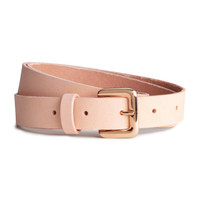 Narrow Leather Belt - from H&M