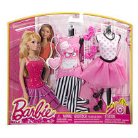 Barbie Fashion Set - Barbie's Day Look - Pink Cat Top and White Top with Pink Hearts