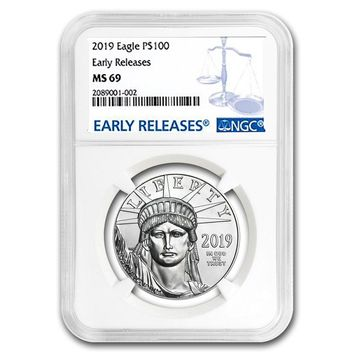 2019 1 oz Platinum American Eagle MS-69 NGC (Early Releases)