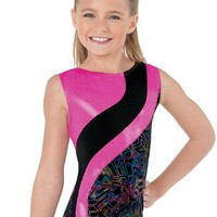 Metallic Inset Print Leotard