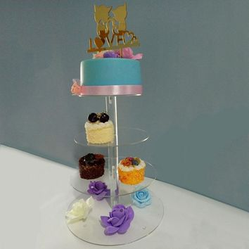 Transparent Birthday Party Wedding Cake Stand Holder Rack