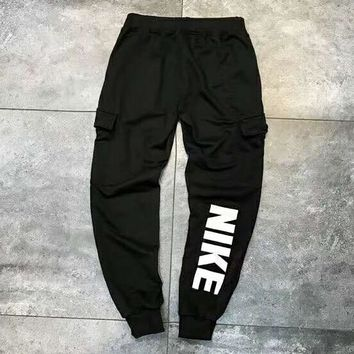 NIKE Fashion Women Men Lover Casual Pants Trousers Sweatpants