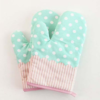 Polka Dot Oven Glove 1pc