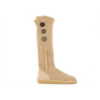 Gotopfashion Ugg Boots Cyber Monday 2016 Knit Classic Cardy 5819 Sand For Women 81 14