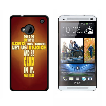 Bible Verse Cross Psalm - Religion Christianity Jesus Catholic This is day that the Lord has made HTC One Case