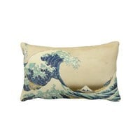 The Great Wave Off Shore of Kanagawa Pillow from Zazzle.com