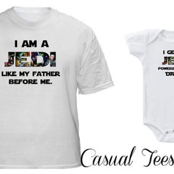 Jedi Like My Father Matching Set for Dad and Baby