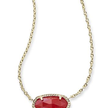 Kendra Scott Elisa Ruby Red Gold Necklace