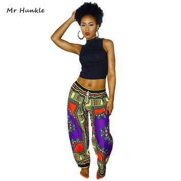 Mr Hunkle 2017 New Luxury Design Woman Pants Traditional African Clothing Print Dashiki Pants For Women Men(free shipping)