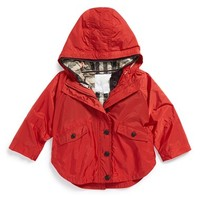 Toddler Girl's Burberry 'Mini Brombrook' Waterproof Cape Parka,