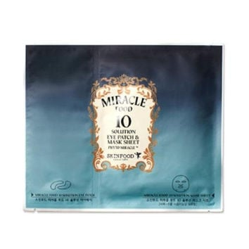 Miracle Food 10 Solution Eye Patch & Mask Sheet Korean Beauty [Imported]