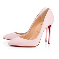 Christian Louboutin Cl Pigalle Follies Pompadour Suede 14w Pumps 3140596p224