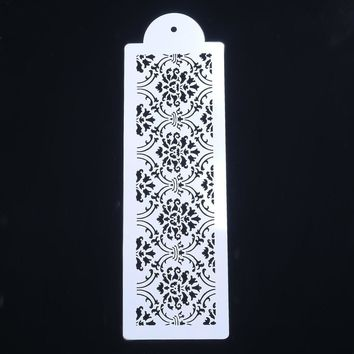 1PC Plastic Lace Border Crown Flower Reusable Stencil Airbrush Painting Art DIY Home Decor Scrap booking Album Crafts