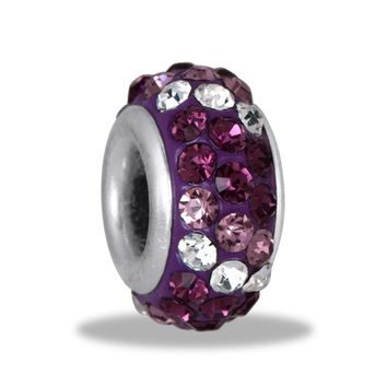DaVinci Bead Purple Multi 3 Row Crystal