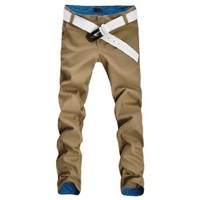 Allegra K Straight Leg Casual Plaid Print Zip Off Cargo Pants for Men