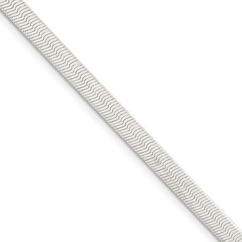 4.5mm, Sterling Silver Solid Herringbone Chain Necklace