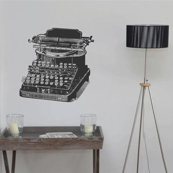 ik2435 Wall Decal Sticker Retro old typewriter office bedroom living room