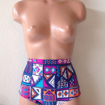 Aztec retro swimsuit bottoms