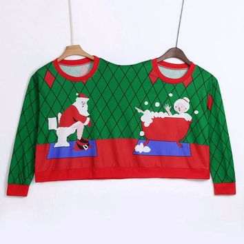 Two Sweater pullover Pullover Novelty Person Winter Couples Christmas sweater Ugly Sweater Couples for women Pull Femme Y-NEW