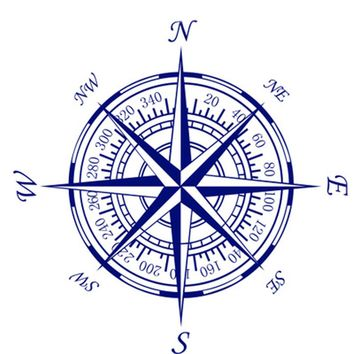 Compass Nautical Compass Rose Wall Art Stickers Decals Home DIY Decoration Wall Mural Removable Bedroom Decor Wall Stickers