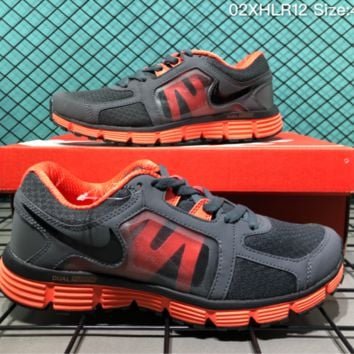 auguu Nike Dual Fusion ST Msl 2018 Breatheable Running Shoes Grey Orange