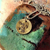Goonies this is my wish on a quarter by LacyBynum on Etsy