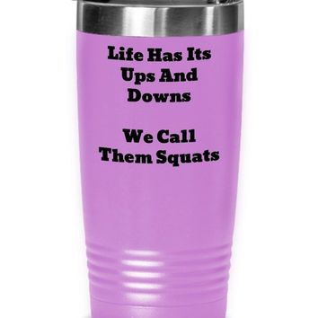 Funny Coffee Tumbler For Fitness Lovers, Tumbler Cup, Gift For Personal Trainer Or Phys Ed Teacher, Hot Or Cold Stainless Steel Travel Mug