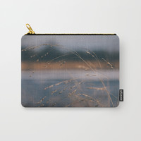 Golden Winter Blues Carry-All Pouch by Jessie Flori