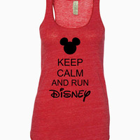 Keep Calm and Run Disney Racerback Tank