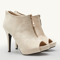 Microsuede Stiletto Booties