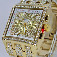 BLINGED OUT CZ WATCH