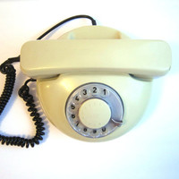 old phone Vintage rotary grey  phone in working condition