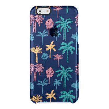 Tropical Palm Tree Pattern Clear iPhone 6/6S Case