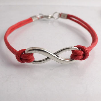 Infinity Bracelet for Men & Women - USA Seller - faux leather - anniversary gift, birthday gift, friendship gift