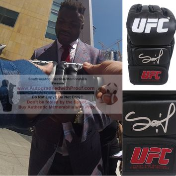 Francis Ngannou Autographed UFC Ultimate Fighting Championship Glove, Proof Photo