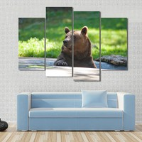Brown Bear On The Nature Canvas