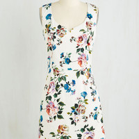 Mid-length Sleeveless A-line Bonny Botanist Dress by ModCloth