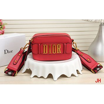 Dior fashion ladies' one-shoulder bag hot seller with shopping bag Red