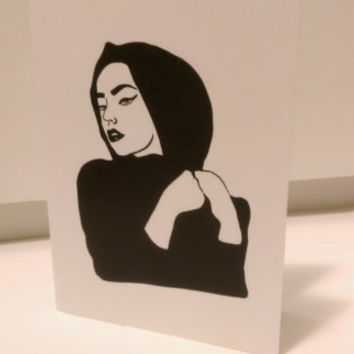 Hijab/Hijabi Woman Card (blank inside, folded card, original artwork)
