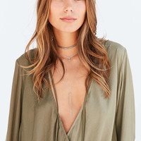 Kimchi Blue Bianca Tie-Neck Surplice Blouse - Urban Outfitters