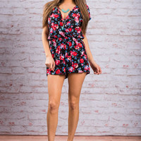 The Best Of You Romper, Black-Red