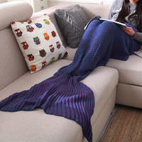 Knitted Mermaid Tail Blanket Crochet