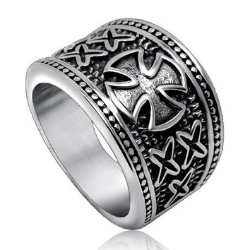 Iron Cross Wedding Band
