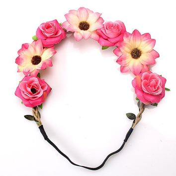 Cute Floral Hair Wreath