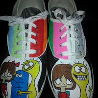 Foster's Home for Imaginary Friends hand painted shoes